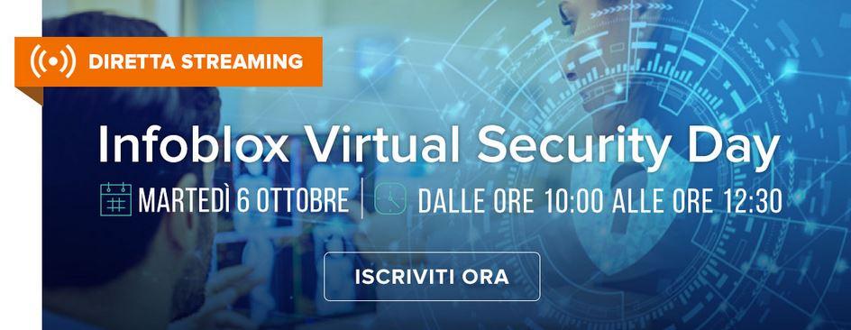 6 ottobre 2020: Infoblox Virtual Security Day