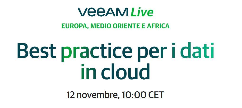 12.11.20 - Partecipa all'evento Veeam Live