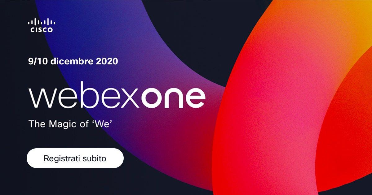9-10 dicembre: Cisco WebexOne