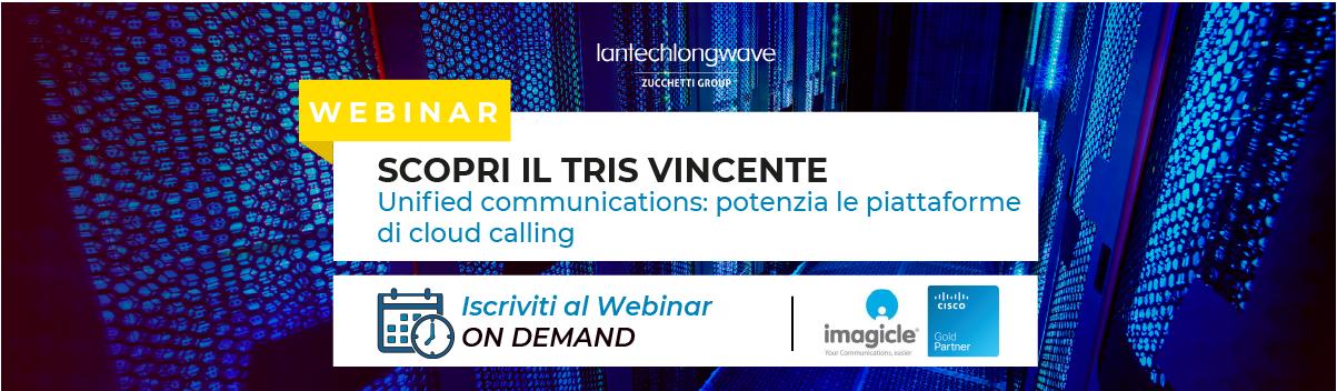 Unified communications, potenzia le piattaforme di cloud calling: webinar on demand